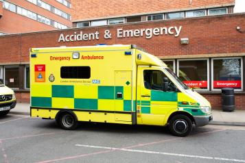 Ambulance outside an A&E